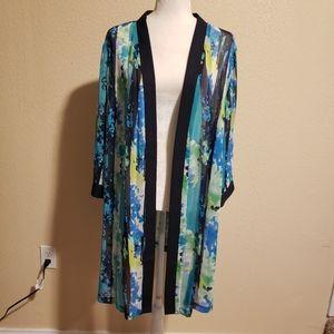 Maggie Barnes Multicolored Kimono/Cardigan 26W